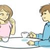 マッチングアプリで出会った人と初の顔合わせヾ(´・ω・`)ノョロシク(o´_ _)o)ペコッ