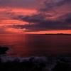 長崎鼻灯台下からの夕焼け。