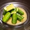 ご飯と味噌汁に最高に合うきゅうりのからしづけ