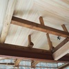 板張り天井完成と造作工事