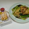 簡単に作れるサバ缶でさばと小松菜のパスタ