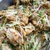 鶏手羽の煮物 薬味散らし