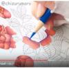 【動画公開】(赤色編)ダイソー塗り絵「花の国」を赤・青・黄の色鉛筆3色で塗ってみた
