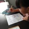 次女(4歳)のぬりえ