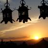 二月堂からの夕陽