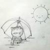 ねこさんと傘