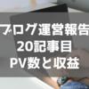 【ブログ初心者】ブログ運営報告  20記事目までのPV数と収益について