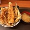 渋谷区渋谷 渋谷地下鉄ビルの「天丼てんや 渋谷地下鉄ビル店」で穴子とめごちの天丼
