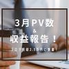 【はてなブログ】3月PV・収益まとめ~初のブログ月収2万円越え!~