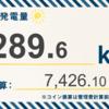 6/9〜6/15の総発電量は289.6kWh(目標比86.8%)でした