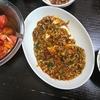 麻婆豆腐、トマトポン酢、スープ