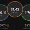 ジョギング31.42km・撃沈30km起伏走!