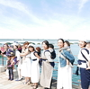 天草の海と空をバックにgran moccoファッションショーでした!!!