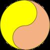 中国火鍋と太極図