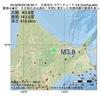 2016年06月29日 08時39分 北見地方でM3.8の地震