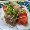 鯖の水煮缶の薬味サラダが大好評!