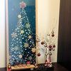 玄関のインテリア*手ぬぐい額を入れ替え*12月はクリスマスツリーの手ぬぐい