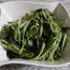 水菜の簡単ナムル風