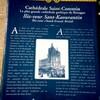 サン・コランタン大聖堂の案内表示板(カンペール、ブルターニュ地方)