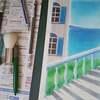パステル講座「海が見える階段」