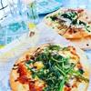 風味豊か~柚子胡椒な春菊と挽肉の和気分ピザ!
