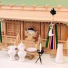 定番三社 尾州桧で作る神棚 明治三社 唐戸 大型サイズの祭り例