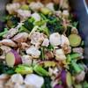 鶏肉、アレッタ(ブロッコリー×ケール)、さつま芋の蒸し物
