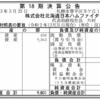 株式会社北海道日本ハムファイターズ 第18期決算公告