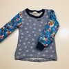 マリオの生地でちゃきちゃきステッチの布帛袖プル☆
