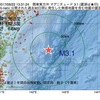 2017年09月22日 13時31分 関東東方沖でM3.1の地震