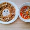 ~焼きそばでライオンキャラ飯~幼稚園年少と1歳0ヶ月の夏休みご飯