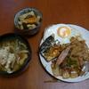 幸運な病のレシピ( 602 )朝:パテから作った餃子の準備、豚バラ焼き、塩サバ
