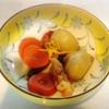 海老と蕪の煮物、鮭曙揚げ、鶏肉梅肉和え、ピーマン、玉子焼き
