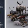 ANIMALS FULL PACK 野生感がハンパない!リアル&低ポリ動物3Dモデル