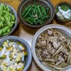 今日のゴーシ飯-野菜づくし-