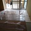 床暖房敷き込み
