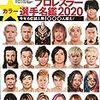 各種数値で見る週刊プロレスプロレスラー選手名鑑2020
