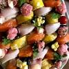 華やか✨簡単にぎり寿司 !シャリ少なめネタ大きめで見た目もお腹も満足!