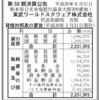 東武ワールドスクウェア株式会社 第50期決算公告