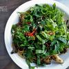 高菜と大葉のスパゲッティ