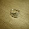 アンティークシルバースプーンのリメイクリング「竹」