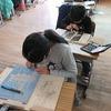 4年生:図工 木版画 刷りへ