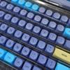 MA PBT DyeSub キーキャップセット(142キー/ブルー)