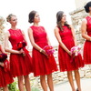 Brillant robe demoiselle d'honneur rouge, que vous allez adorer