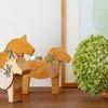 【北欧雑貨/キャンドルスタンド】スカンジナビスク・ヘムスロイド社 ダーラナホース 木製キャンドルスタンド