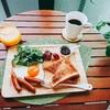 【週末ブランチ】トーストと目玉焼き20180902