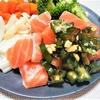 手軽に食べれる!『サーモンのおくらカシューナッツ』サラダ【夏バテ予防にはビタミンB1⑦】
