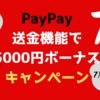 PayPay 送金機能を使って 5000円ボーナス獲得キャンペーン