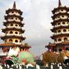初めての台南・高雄 @台湾旅行 6回目 2018.9 7日目 高雄のパワースポット蓮池潭へ。龍虎塔には嫁だけ登る