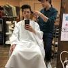 明日の入社式に向けて髪を切りました!笑